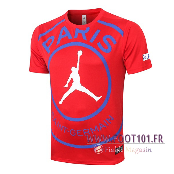 Training T-Shirts Paris PSG Jordan Rouge 2020/2021