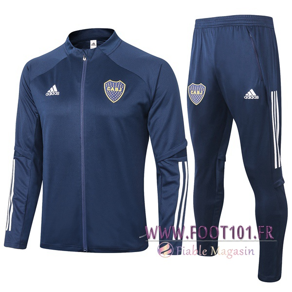 Ensemble Survetement Foot - Veste Boca Juniors Bleu Royal 2020/2021