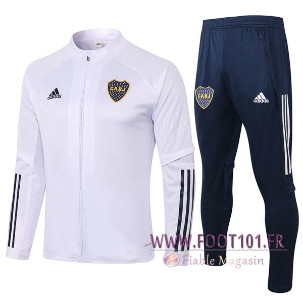 Ensemble Survetement Foot - Veste Boca Juniors Blanc 2020/2021