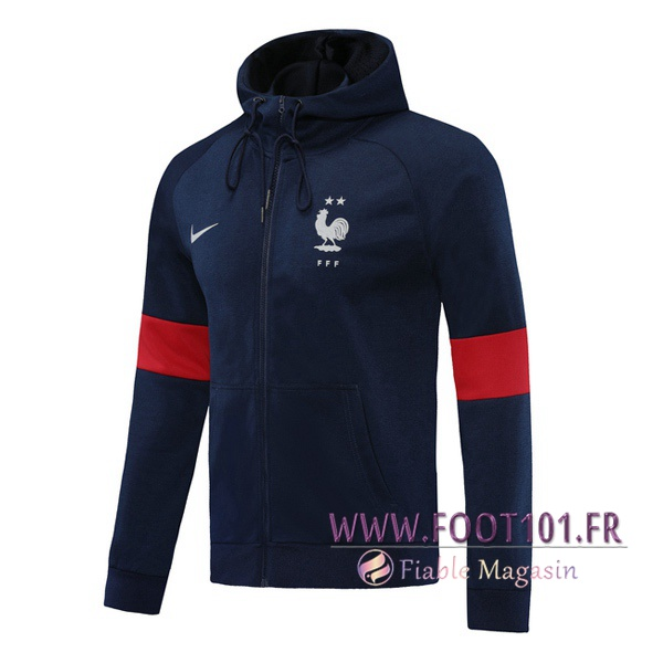 Veste A Capuche France Bleu Royal 2020/2021