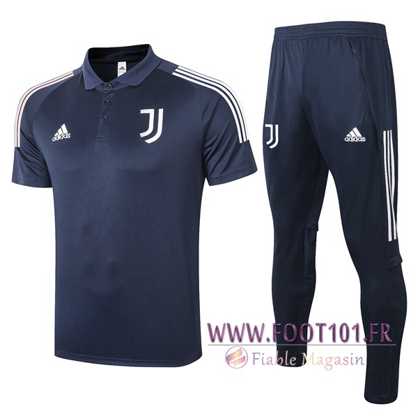 Ensemble Polo Juventus + Pantalon Bleu Royal 2020/2021