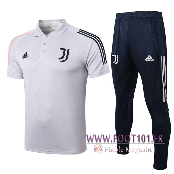 Ensemble Polo Juventus + Pantalon Gris Clair 2020/2021