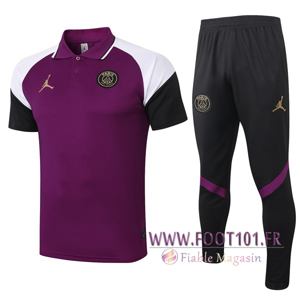Ensemble Polo Paris PSG Jordan + Pantalon Pourpre 2020/2021