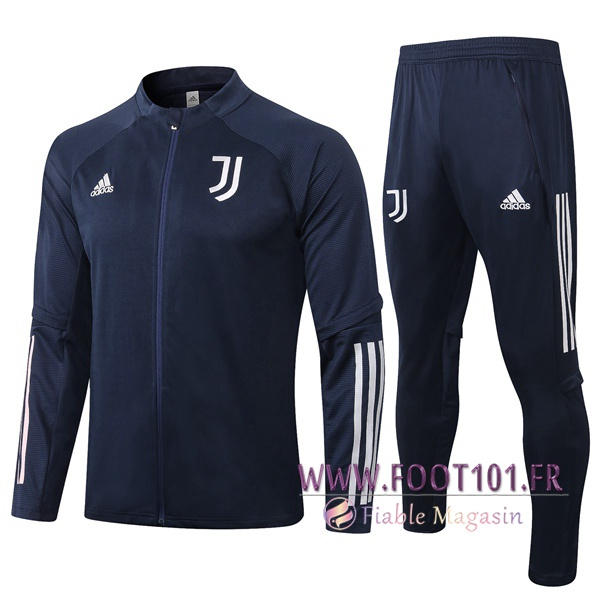 Ensemble Survetement de Foot - Veste Juventus Bleu Royal 2020/2021