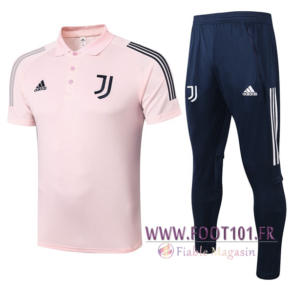 Ensemble Polo Juventus + Pantalon Rose 2020/2021