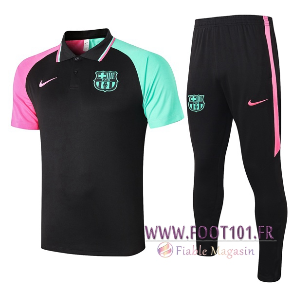 Ensemble Polo FC Barcelone + Pantalon Noir 2020/2021