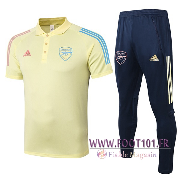 Ensemble Polo Arsenal + Pantalon Jaune 2020/2021