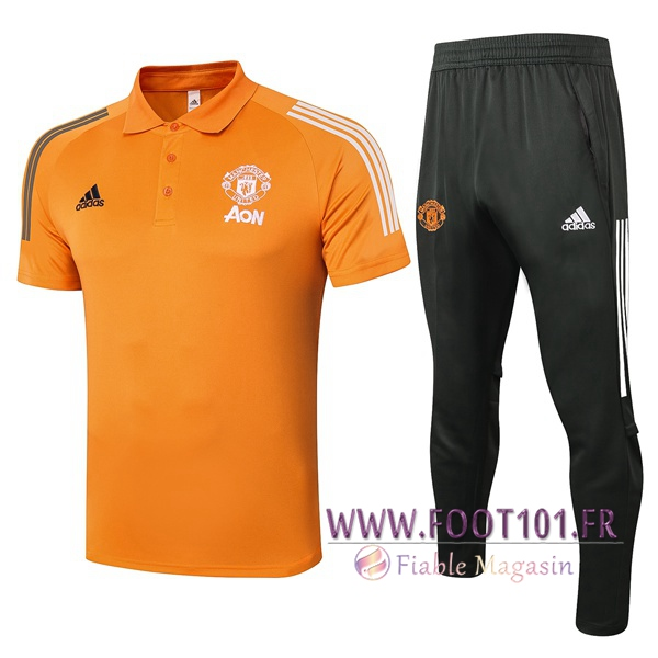 Ensemble Polo Manchester United + Pantalon Orange 2020/2021