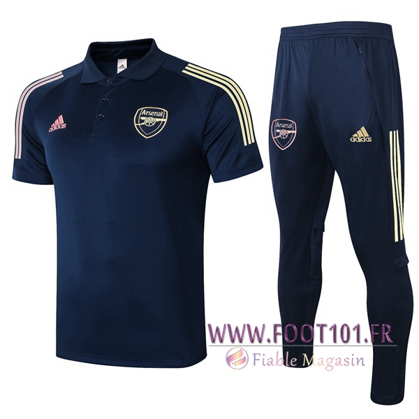 Ensemble Polo Arsenal + Pantalon Bleu Royal 2020/2021