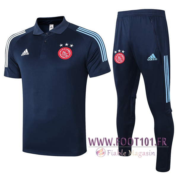 Ensemble Polo AFC Ajax + Pantalon Bleu Royal 2020/2021