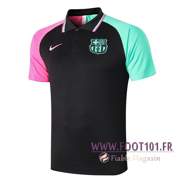 Polo Foot FC Barcelone Noir 2020/2021