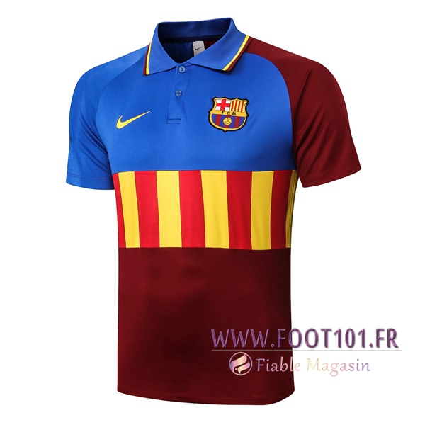 Polo Foot FC Barcelone Bleu Rouge 2020/2021