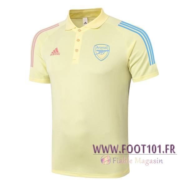 Polo Foot Arsenal Jaune 2020/2021