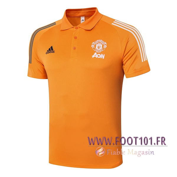 Polo Foot Manchester United Orange 2020/2021