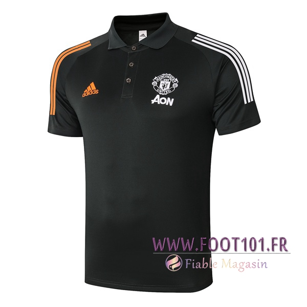 Polo Foot Manchester United Noir 2020/2021