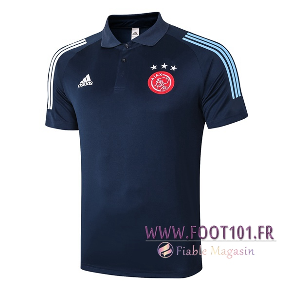 Polo Foot AFC Ajax Bleu Royal 2020/2021