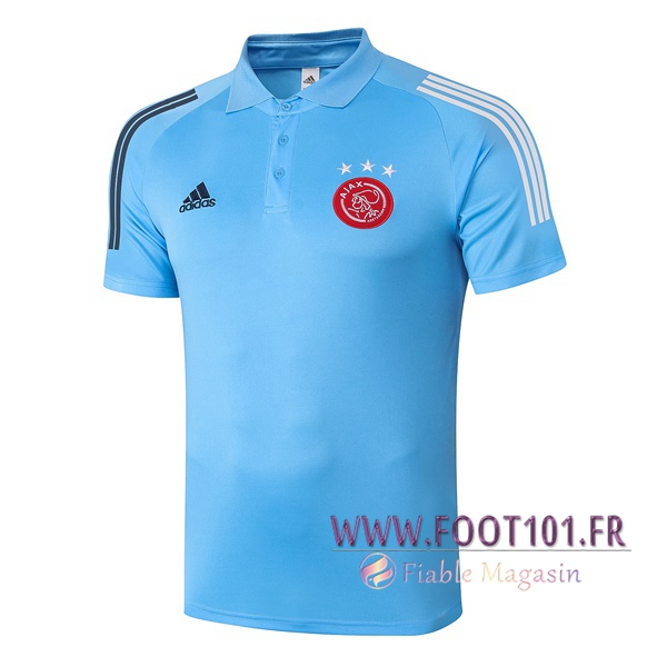 Polo Foot AFC Ajax Bleu 2020/2021
