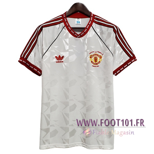 Maillot Retro Manchester United Exterieur 1991