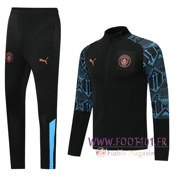 Ensemble Survetement de Foot - Veste Manchester City Noir 2020/2021