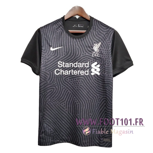 Maillot Foot FC Liverpool Gardien de But Noir 2020 2021