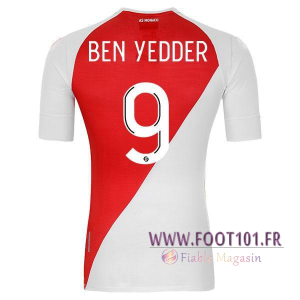 Maillot Foot AS Monaco (BEN YEDDER 9) Domicile 2020 2021