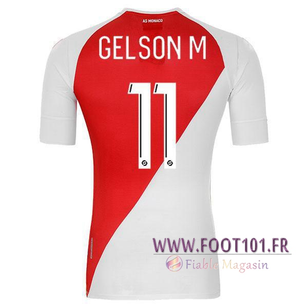 Maillot Foot AS Monaco (GELSONM 11) Domicile 2020 2021