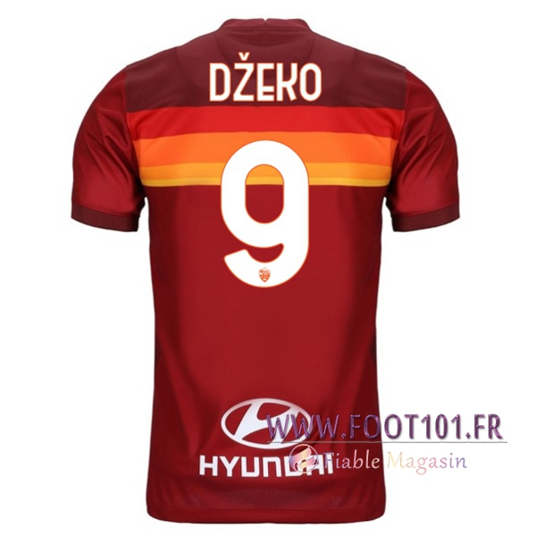 Maillot Foot AS Roma (DZEKO 9) Domicile 2020 2021