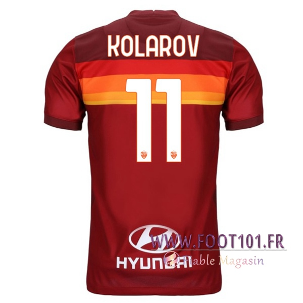 Maillot Foot AS Roma (KOLAROV 11) Domicile 2020 2021