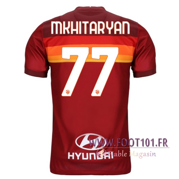 Maillot Foot AS Roma (MKHITARYAN 77) Domicile 2020 2021