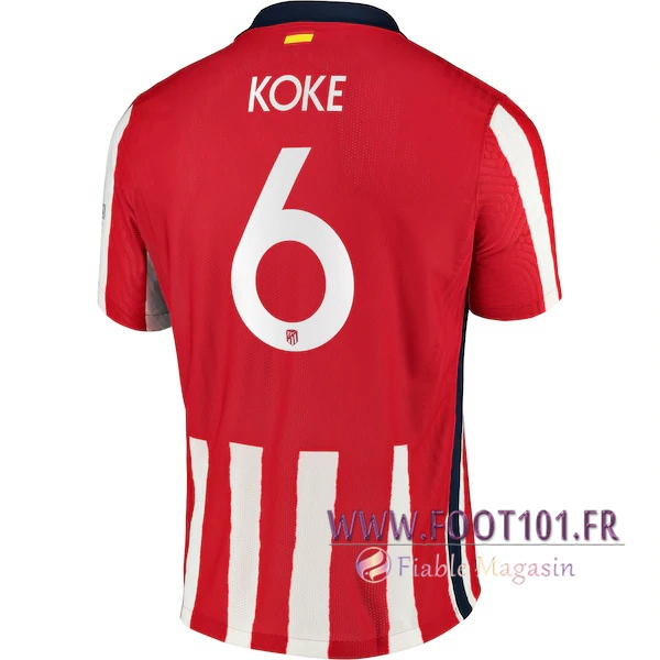 Maillot Foot Atletico Madrid (Koke 6) Domicile 2020 2021
