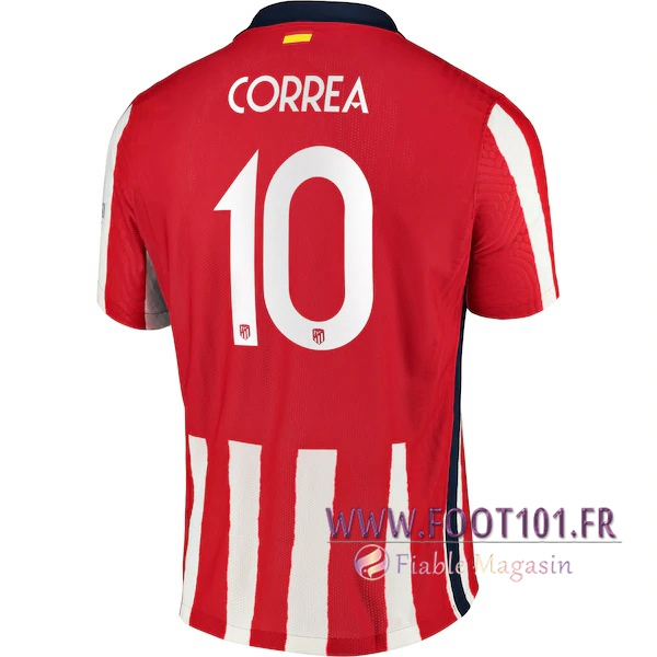 Maillot Foot Atletico Madrid (Correa 10) Domicile 2020 2021