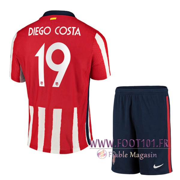 Maillot Foot Atletico Madrid (Diego Costa 19) Enfants Domicile 2020/2021