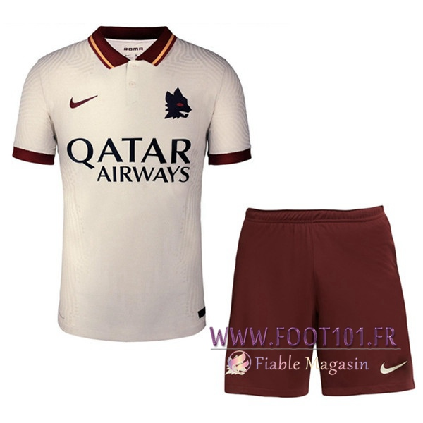 Ensemble Maillot Foot AS Roma Exterieur + Short 2020 2021