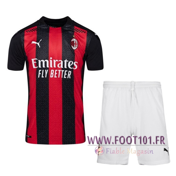 Ensemble Maillot Foot Milan AC Domicile + Short 2020 2021