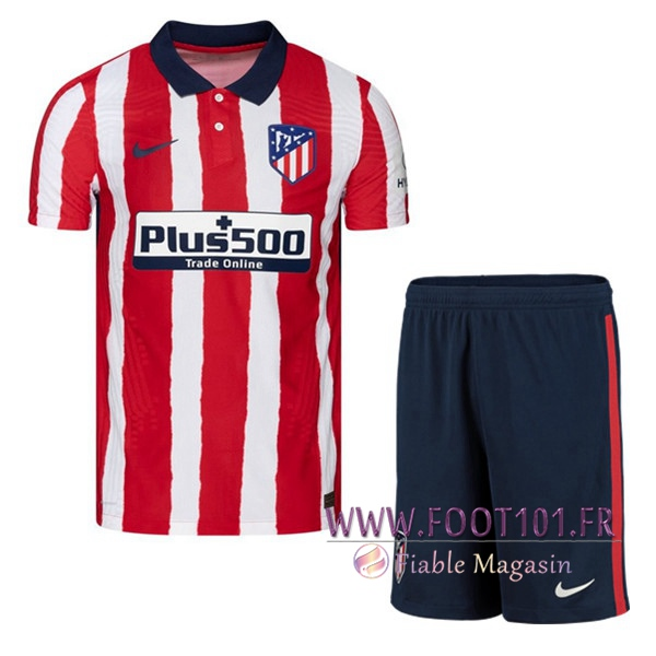 Ensemble Maillot Foot Atletico Madrid Domicile + Short 2020 2021