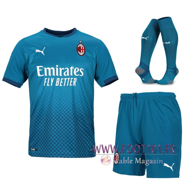 Ensemble Maillot Foot Milan AC Third (Short+Chaussettes) 2020/2021