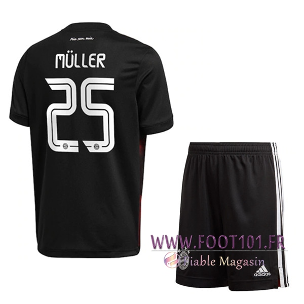 Maillot de Foot Bayern Munich (Müller 25) Enfants Third 2020/2021