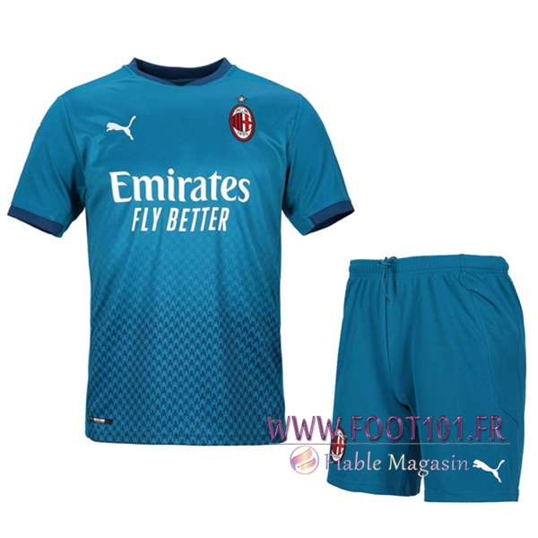 Ensemble Maillot Foot Milan AC Third + Short 2020/2021