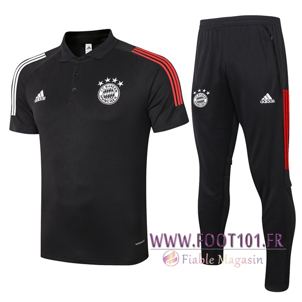 Ensemble Polo Bayern Munich + Pantalon Noir 2020/2021