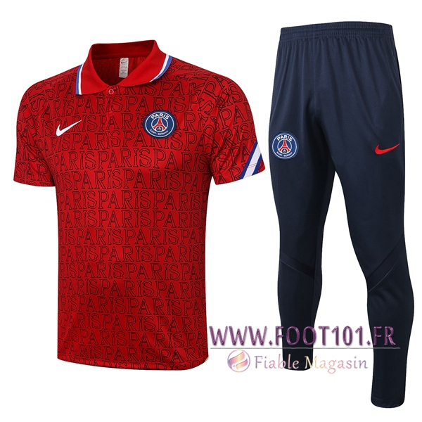 Ensemble Polo Paris PSG + Pantalon Rouge 2020/2021