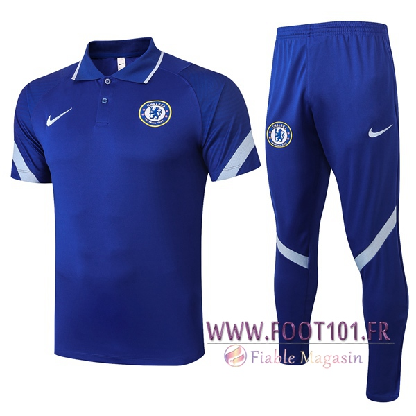 Ensemble Polo FC Chelsea + Pantalon Bleu 2020/2021