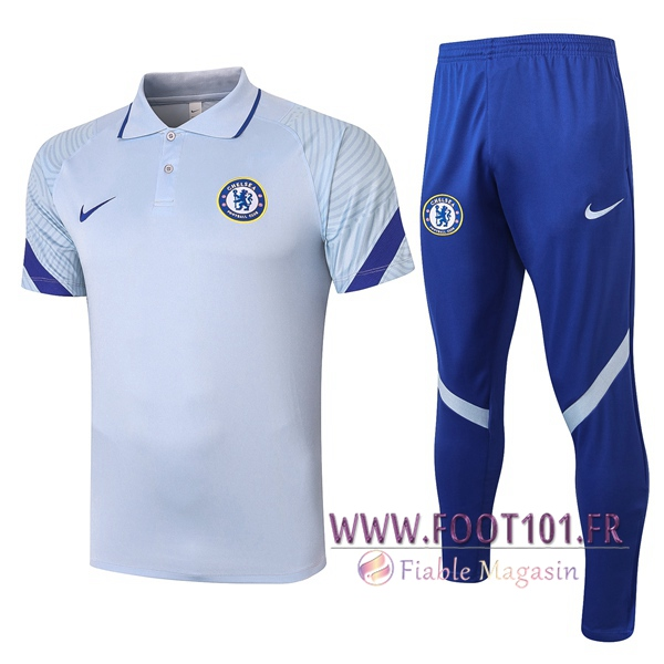 Ensemble Polo FC Chelsea + Pantalon Gris 2020/2021
