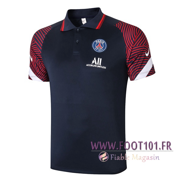 Polo Foot Paris PSG Bleu 2020/2021
