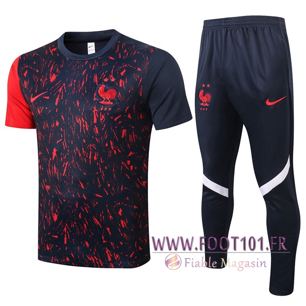 Training T-Shirts France + Pantalon Noir 2020/2021