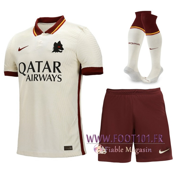 Ensemble Maillot Foot AS Roma Exterieur (Short+Chaussettes) 2020/2021
