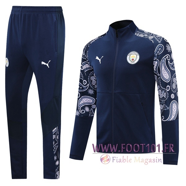 Ensemble Survetement de Foot - Veste Manchester City Bleu 2020/2021