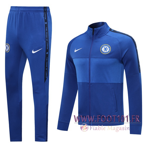 Ensemble Survetement de Foot - Veste FC Chelsea Bleu 2020/2021