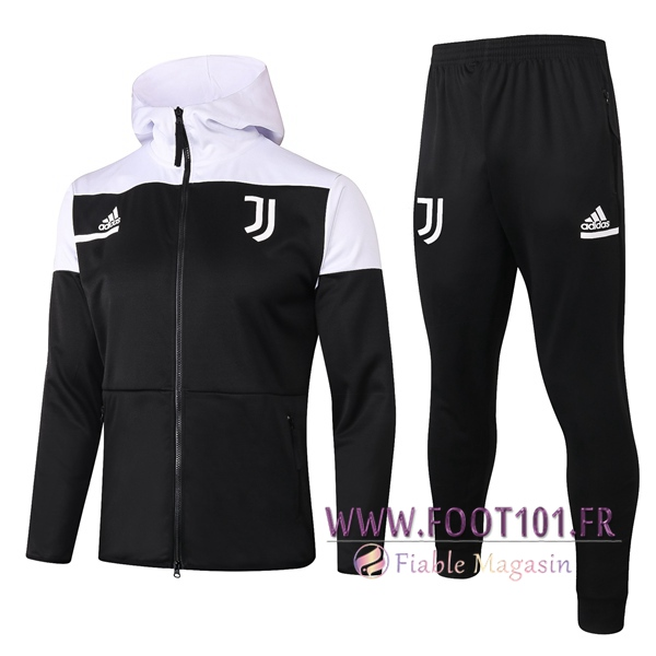 Veste A Capuche Survetement Foot Juventus Noir 2020/2021