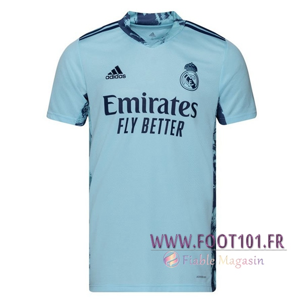 Maillot de Foot Real Madrid Gardien de But Bleu 2020/2021