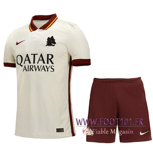 Ensemble Maillot Foot AS Roma Exterieur + Short 2020/2021